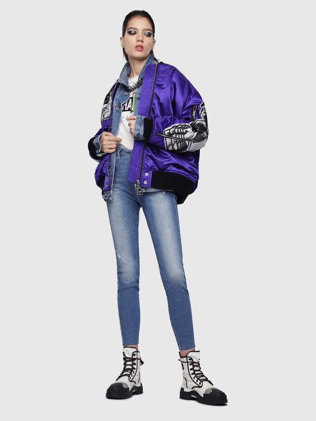 Diesel - Slandy High 086AB, Blu Chiaro - Jeans - Image 5