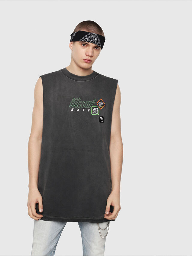 Diesel - T-MINOLESS, Nero - T-Shirts - Image 1