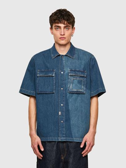 Diesel - D-GUNN-SP, Blu medio - Camicie in Denim - Image 1