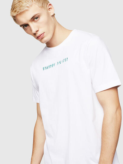 Diesel - T-JUST-A4, Bianco - T-Shirts - Image 4