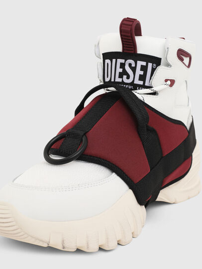 Diesel - S-SHARQUEZ MID, Bianco/Rosso - Sneakers - Image 6