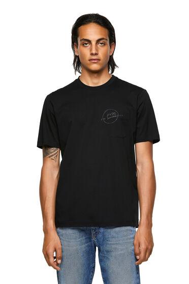 T-shirt in cotone con tasca stampata