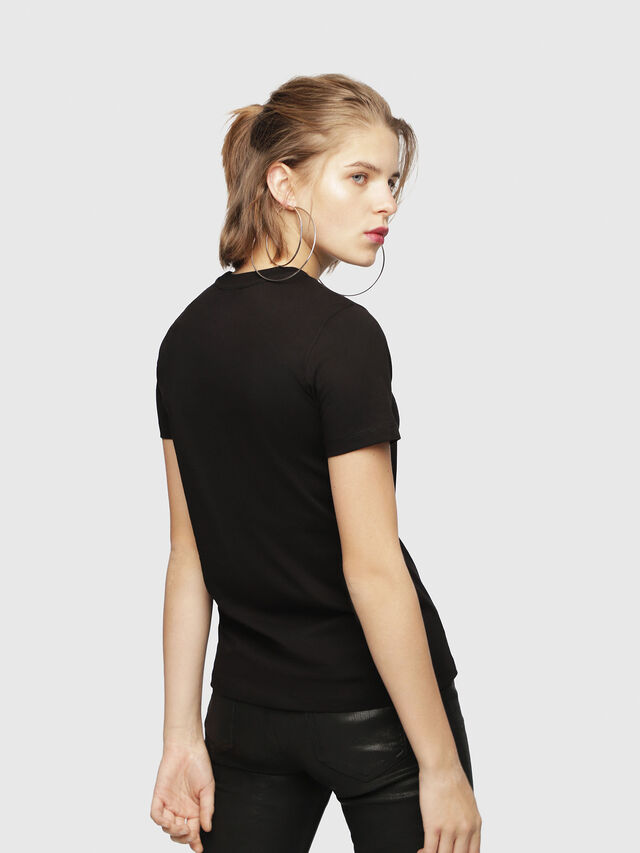 Diesel - T-SILY-WH, Nero - T-Shirts - Image 2