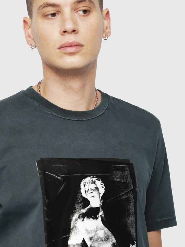 Diesel - T-JUST-YS, Verde Scuro - T-Shirts - Image 3