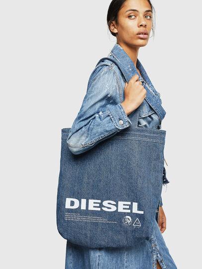 Diesel - F-THISBAG SHOPPER NS, Bianco/Blu - Shopper e Borse a Spalla - Image 7