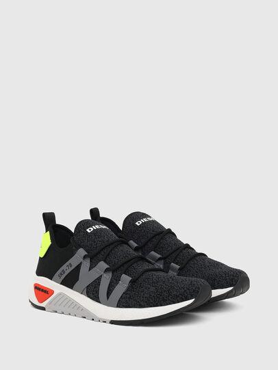 Diesel - S-KB WEB LACE, Nero/Blu - Sneakers - Image 2