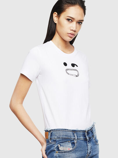 Diesel - T-SILY-S8, Bianco - T-Shirts - Image 4