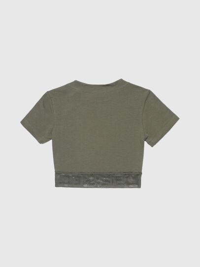 Diesel - UFTEE-GIORGMESH-SV, Verde Militare - T-Shirts - Image 2