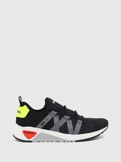 Diesel - S-KB WEB LACE, Nero/Blu - Sneakers - Image 1