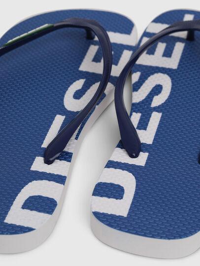Diesel - SA-BRIIAN, Blu/Bianco - Ciabatte - Image 4