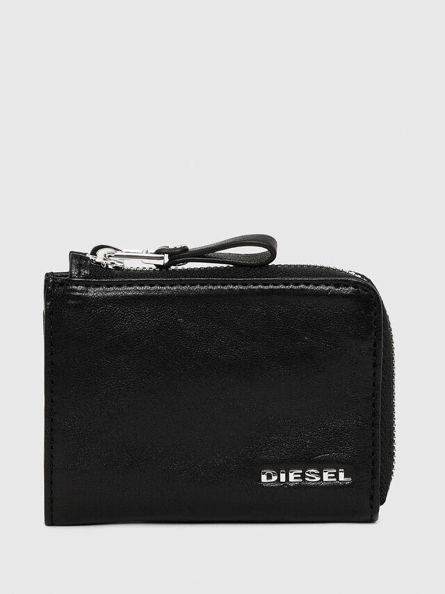 Diesel - L-PASSME, Nero Cuoio - Portafogli Piccoli - Image 1