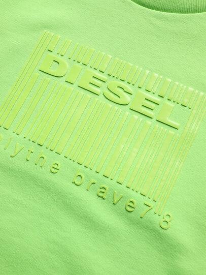 Diesel - SCOLIGCODE OVER, Verde Fluo - Felpe - Image 3