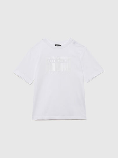 Diesel - TUDERCODE OVER, Bianco - T-shirts e Tops - Image 1