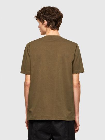 Diesel - T-JUSTEMB, Verde Militare - T-Shirts - Image 2