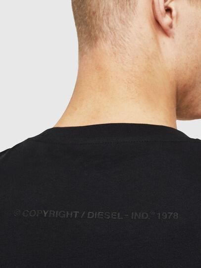 Diesel - T-JUST-T30, Nero - T-Shirts - Image 4