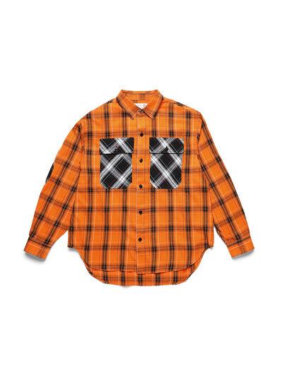 Diesel - D-ANORACHECK, Arancione - Camicie - Image 1