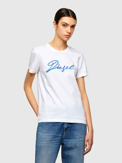 Diesel - T-SILY-K10, Bianco - T-Shirts - Image 1