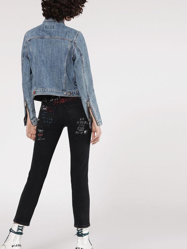 Diesel - DE-VELVET-ZIP, Blu Jeans - Giacche in denim - Image 4