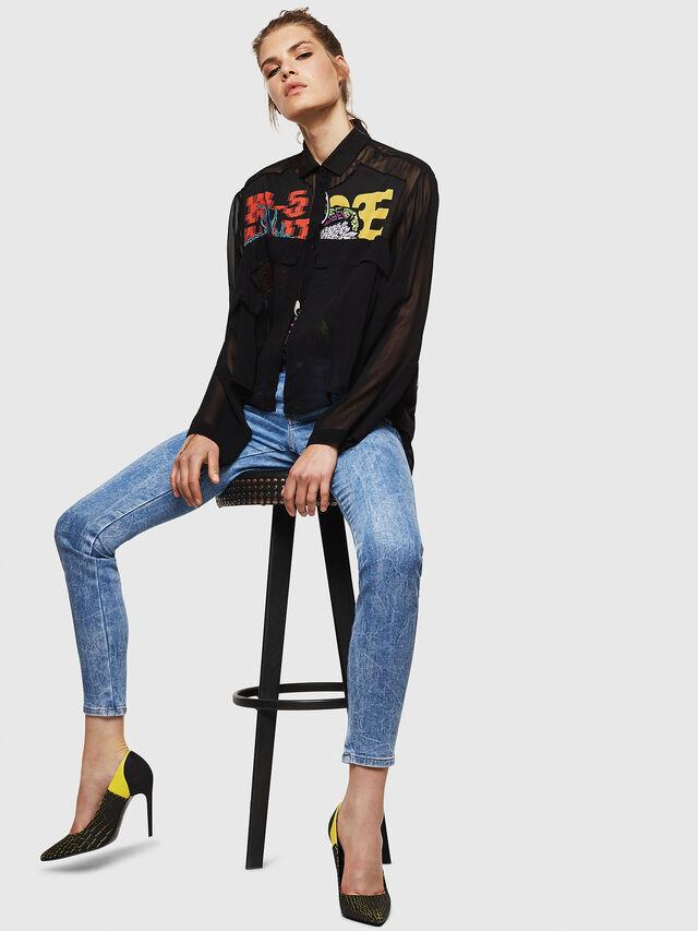 Diesel - Gracey JoggJeans 0870P, Blu Chiaro - Jeans - Image 4