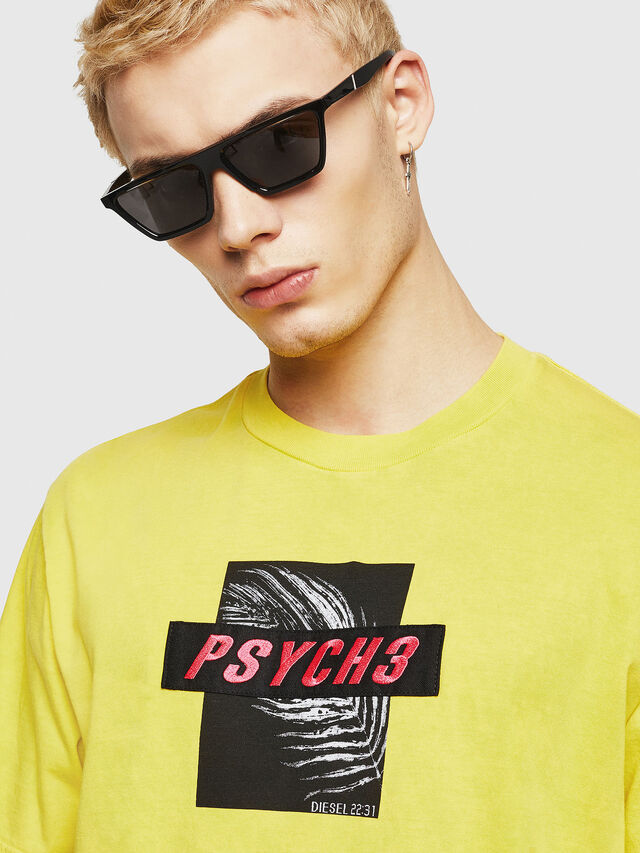 Diesel - T-JUST-Y18, Giallo - T-Shirts - Image 2