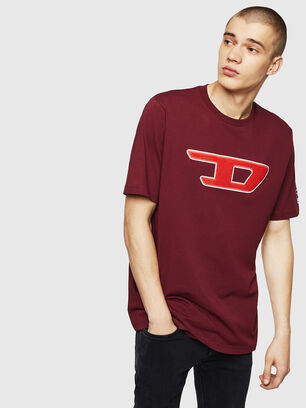 T-JUST-DIVISION-D, Bordeaux - T-Shirts