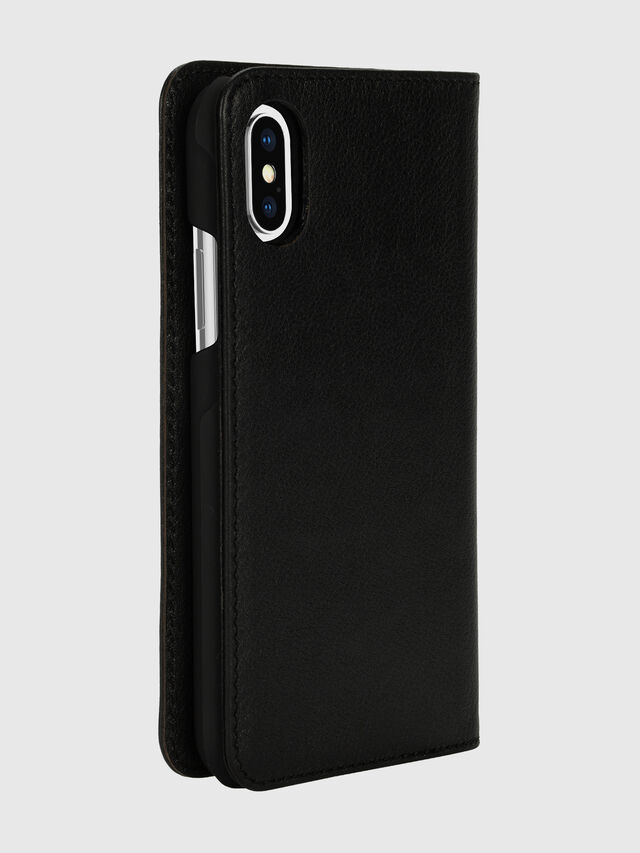 Diesel - DIESEL 2-IN-1 FOLIO CASE FOR IPHONE XS & IPHONE X, Nero/Bianco - Cover a libro - Image 4