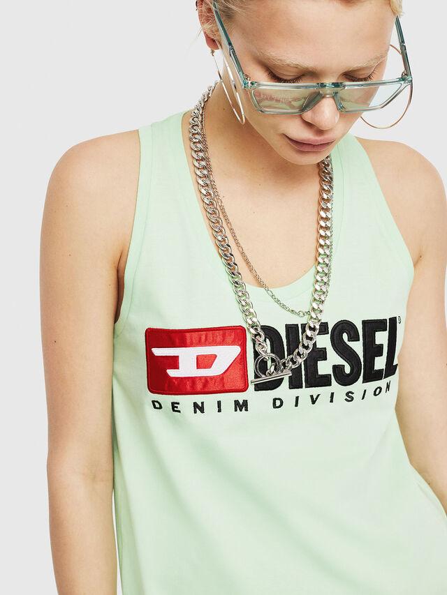 Diesel - T-SILK, Verde Fluo - Tops - Image 3