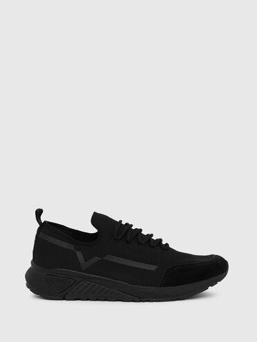 Sneaker monocromatiche con dettaglio a contrasto