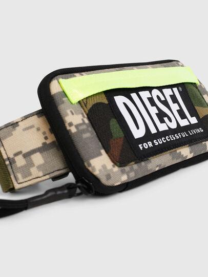 Diesel - BELT RUBBER CASE BIG, Verde Camo - Portafogli Continental - Image 5