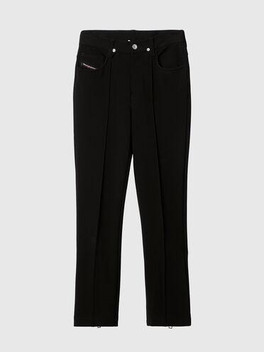 Pantaloni bootcut 5 tasche in tessuto stretch