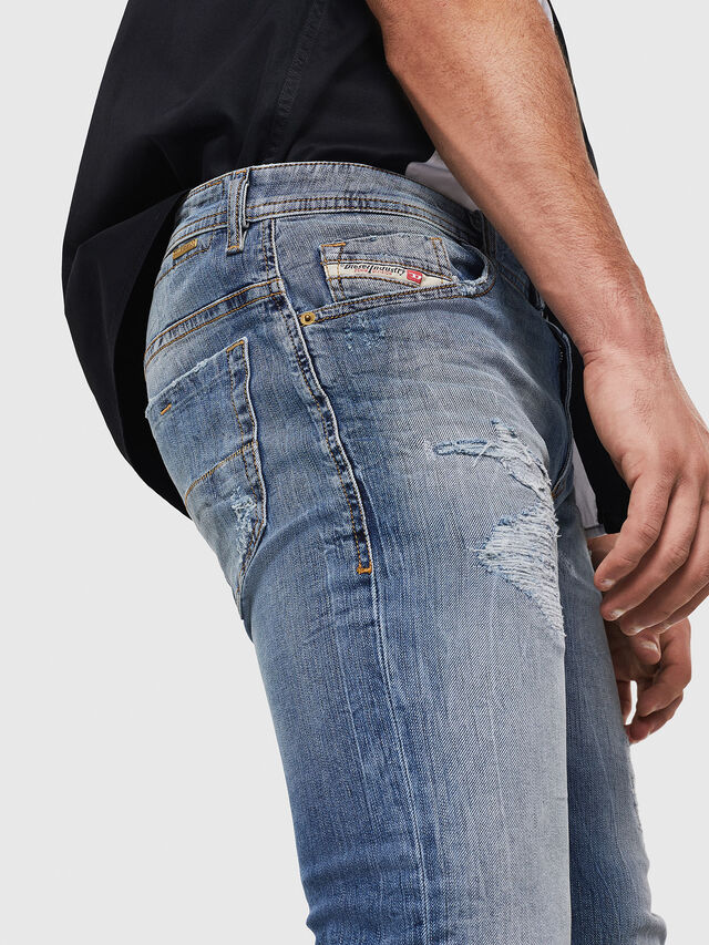 Diesel - Thommer 0090M, Blu Chiaro - Jeans - Image 3