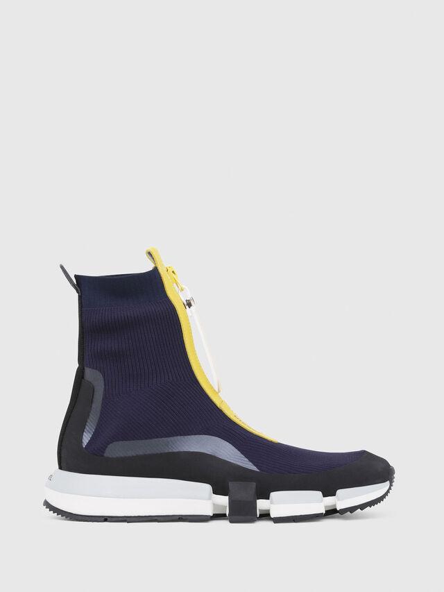 Diesel - H-PADOLA MID ZIP, Blu/Giallo - Sneakers - Image 1