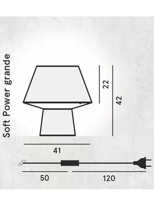 Diesel - SOFT POWER GRANDE, Nero - Lampade da Tavolo - Image 2