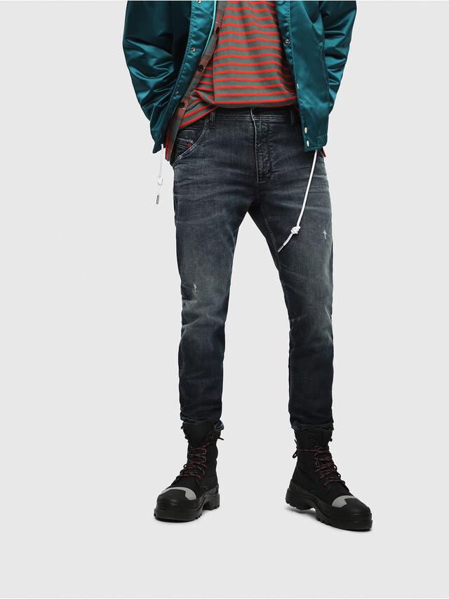 Diesel - Krooley JoggJeans 087AI, Blu Scuro - Jeans - Image 1