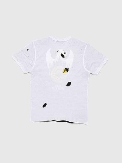 Diesel - TJUSTLAY, Bianco/Nero - T-shirts e Tops - Image 2