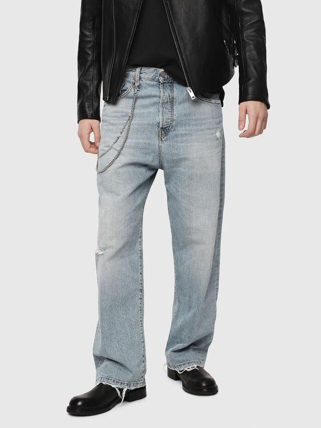 Diesel - D-Vided 080AF, Blu Chiaro - Jeans - Image 1