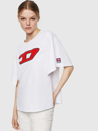 Diesel - T-JACKY-I, Panna - T-Shirts - Image 1