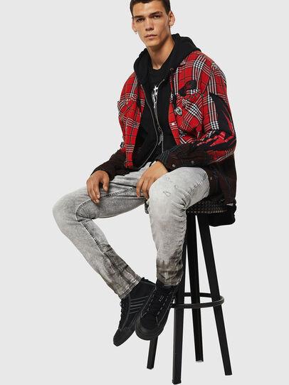 Diesel - Krooley JoggJeans 0091H, Grigio Chiaro - Jeans - Image 4