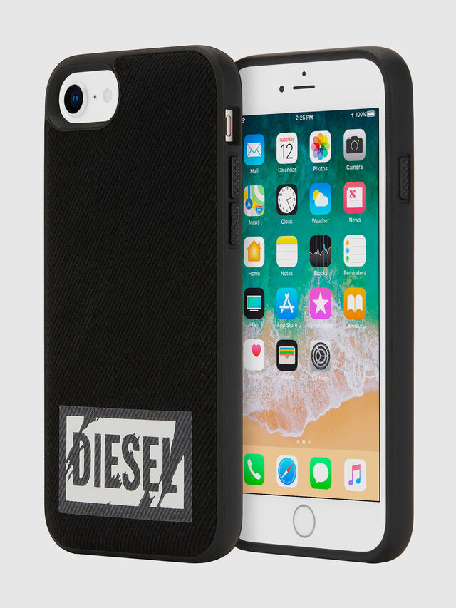 Diesel - BLACK DENIM IPHONE 8/7/6S/6 CASE, Nero - Cover - Image 1