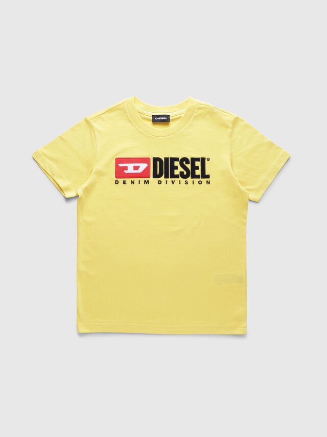 Diesel - TJUSTDIVISION, Giallo - T-shirts e Tops - Image 1