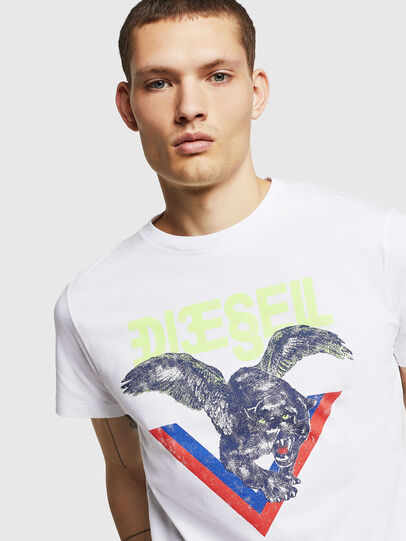Diesel - T-DIEGO-A4, Bianco - T-Shirts - Image 3