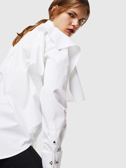Diesel - C-RAILY-SHAPED, Bianco - Camicie - Image 5