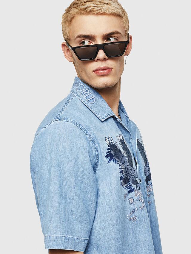 Diesel - D-RASHI, Blu Jeans - Camicie in Denim - Image 3