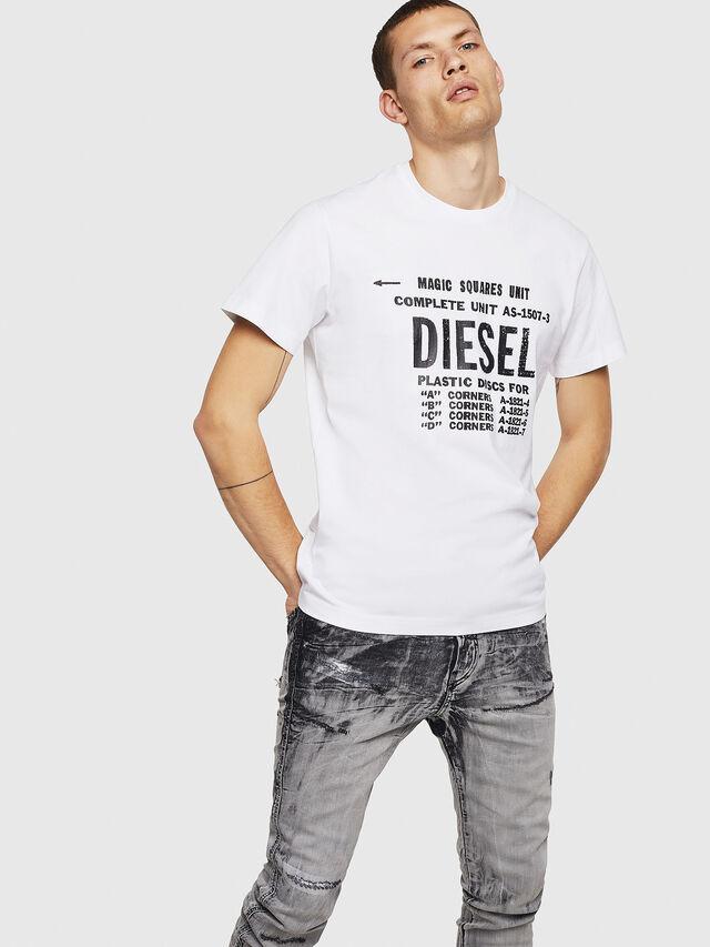 Diesel - T-DIEGO-B6, Bianco - T-Shirts - Image 4
