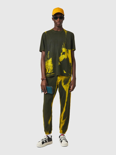 Diesel - T-JUST-B84, Verde/Giallo - T-Shirts - Image 5