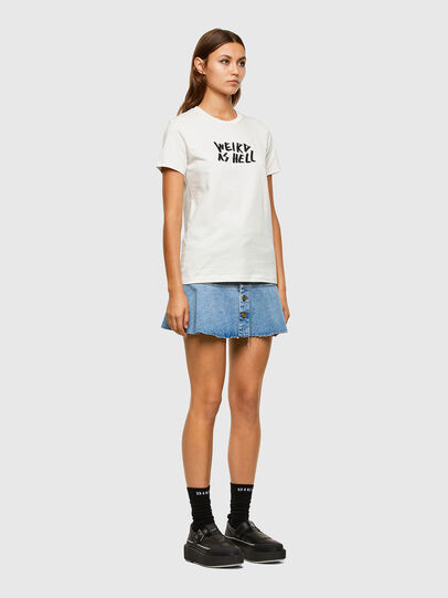 Diesel - T-SILY-E55, Bianco - T-Shirts - Image 5