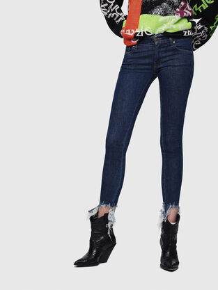 Slandy Low 088AT, Blu Scuro - Jeans