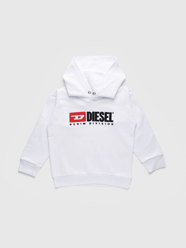 Diesel - SDIVISION OVER, Bianco - Felpe - Image 1