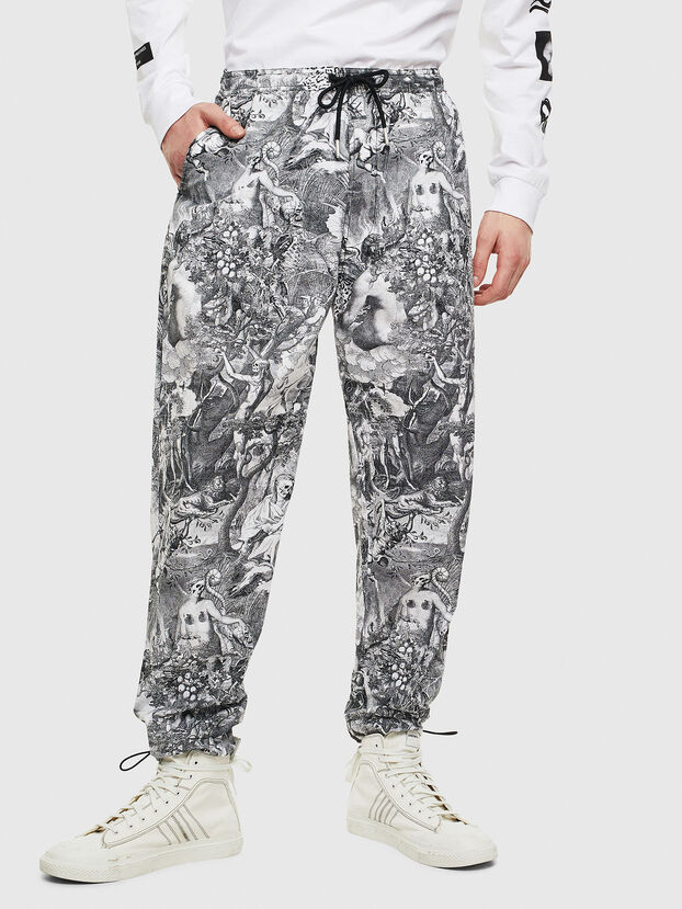 P-TOLL-KAOS, Nero/Bianco - Pantaloni