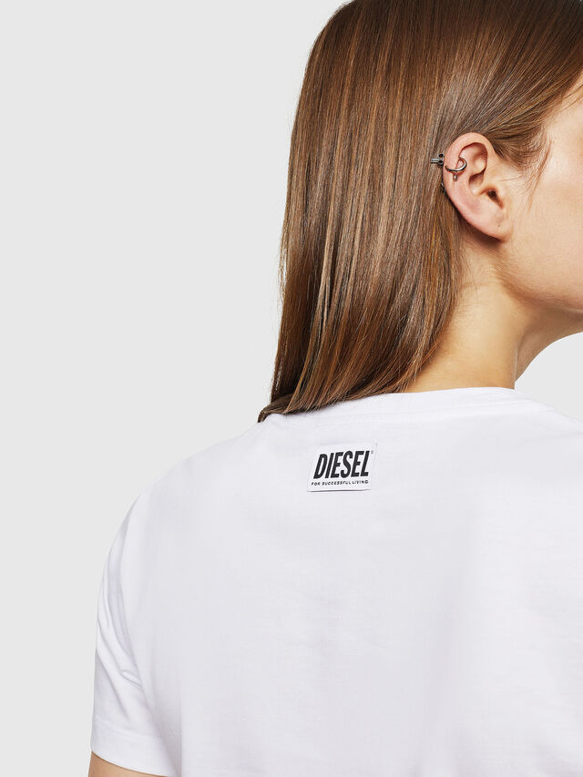 Diesel - T-SILY-WK, Bianco - T-Shirts - Image 4